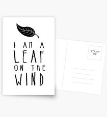 I am a Leaf on the Wind Postcards
