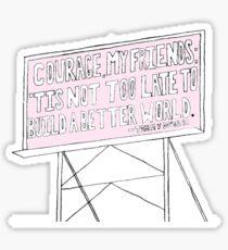 Billboard Quote Sticker