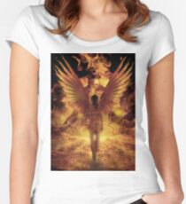Solar Flare Women's Fitted Scoop T-Shirt