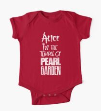 Alice In The Temple Of Pearl Garden Short Sleeve Baby One-Piece
