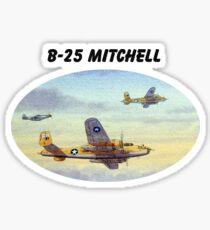 B-25 Mitchell Aircraft Sticker