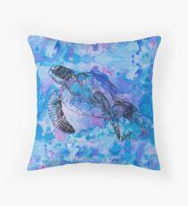 india ink purple  Throw Pillow