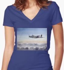 Mosquito Aircraft Women's Fitted V-Neck T-Shirt