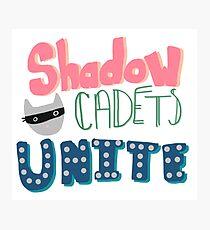 Shadow Cadets Unite! Photographic Print