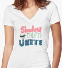 Shadow Cadets Unite! Women's Fitted V-Neck T-Shirt