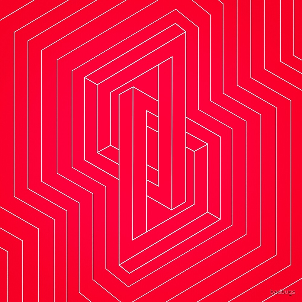 modern minimal line art geometric optical illusion
