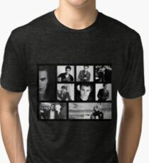 Paul Wesley in Black and White Tri-blend T-Shirt
