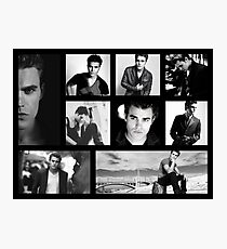 Paul Wesley in Black and White Photographic Print