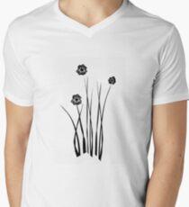 Kathie McCurdy Zen Black & White Flowers T-Shirt