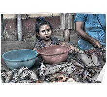 A Fish Market in Nauta, Peru Poster