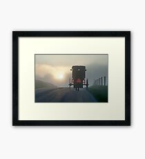 Into the Morning Mist Framed Print
