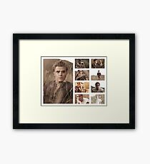 Paul Wesley grass photoshoot Framed Print