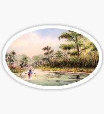 Canoeing The Wacissa River Sticker
