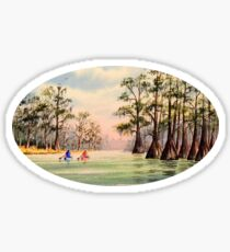 Canoeing The Suwannee  Sticker
