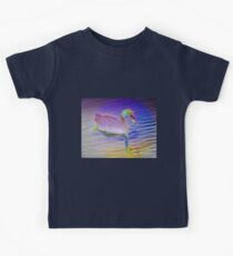 Swan mirror in pastels Kids Tee