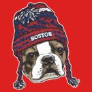 Boston Terrier Red Beanie by MudgeStudios
