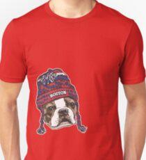 Boston Terrier Red Beanie Unisex T-Shirt