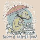 Adopt a Shelter Dog Umbrella by MudgeStudios