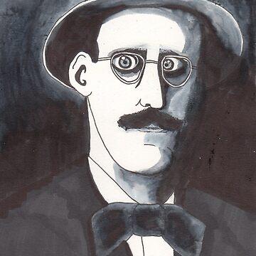 James Joyce by dinahstubbs