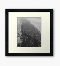 Egypt From Above - The Nile In Black and White Framed Print