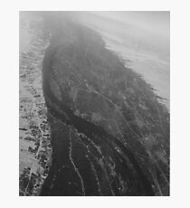 Egypt From Above - The Nile In Black and White Photographic Print