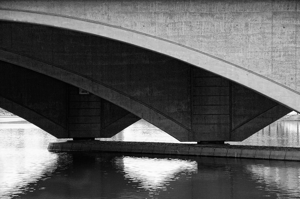 Arches at Broad St Bridge by woodnimages