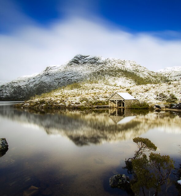 The Boat Shed Dove Lake by Nathan Waddell