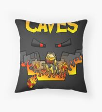 Super Spellbound Caves - Blaze Poster Throw Pillow