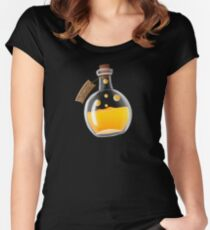 Super Spellbound Caves - Fire Resistance Potion T-Shirt Women's Fitted Scoop T-Shirt
