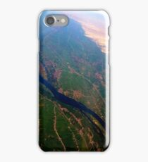 Egypt From Above - The Nile In Bright Color iPhone Case/Skin