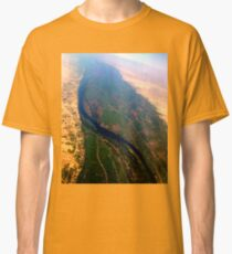 Egypt From Above - The Nile In Bright Color Classic T-Shirt
