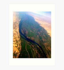 Egypt From Above - The Nile In Bright Color Art Print