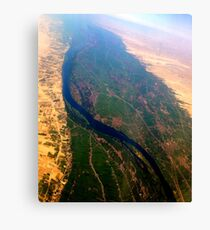 Egypt From Above - The Nile In Bright Color Canvas Print