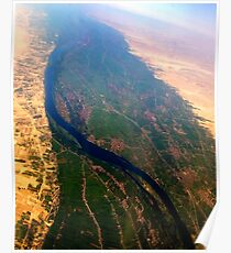 Egypt From Above - The Nile In Bright Color Poster