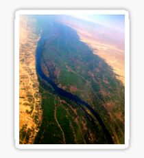 Egypt From Above - The Nile In Bright Color Sticker