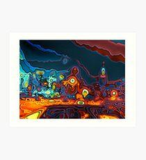 New York Skyline - Digital Variation IV Art Print