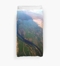 Egypt From Above - The Nile In Bright Color Duvet Cover