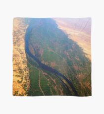 Egypt From Above - The Nile In Bright Color Scarf