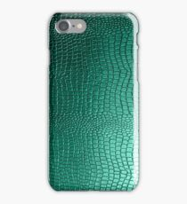 Green Snakeskin Leather Look Pattern iPhone Case/Skin