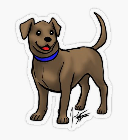 Chocolate Lab Transparent Sticker