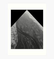 Egypt From Above - The Nile In Black and White - Framed Art Print