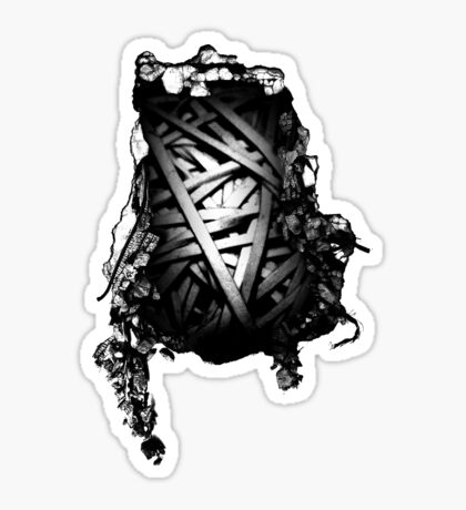 Knotted Up Inside Sticker