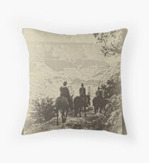 Canyon Riders  Throw Pillow