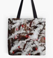 Berries in the snow Tote Bag