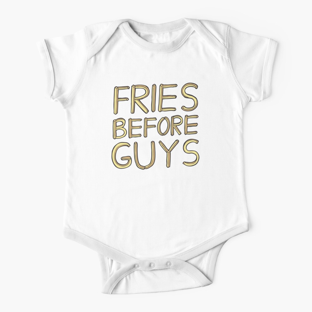Fries Before Guys Short Sleeve Baby One-Piece