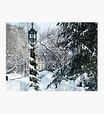 City Hall Park in Snow, New York Photographic Print