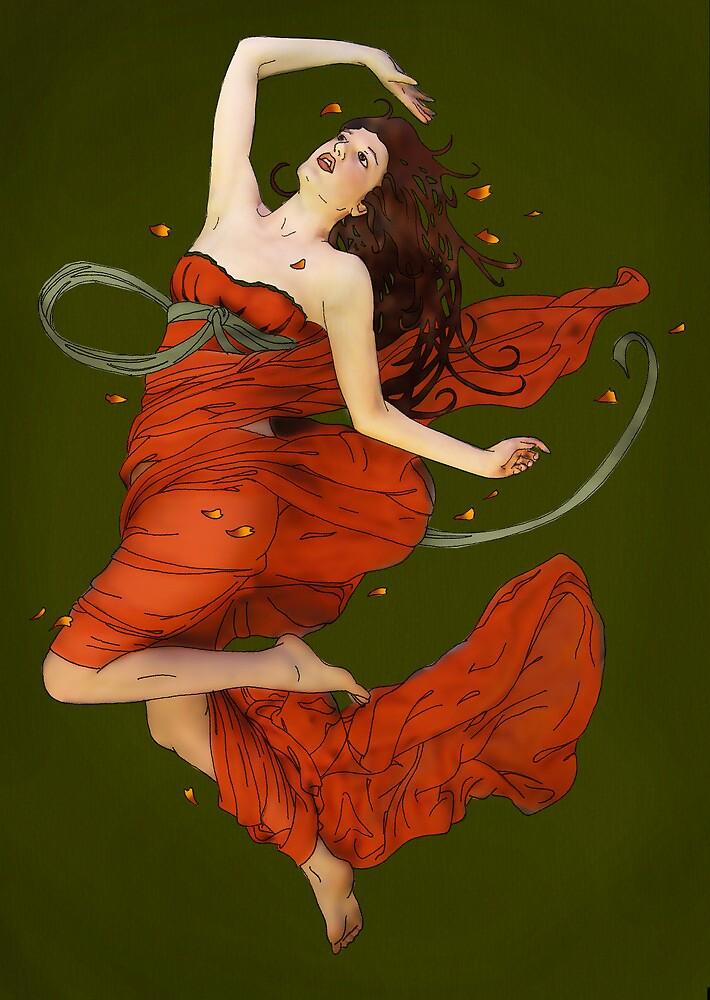 Autumn Dance II by Tiffany Muff