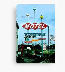 Retro Motel Canvas Print