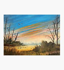 Evening Duck Hunt Photographic Print