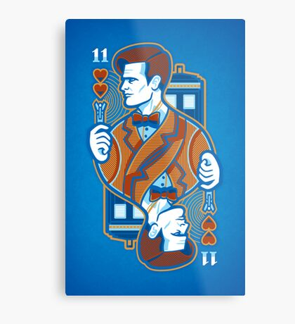 11th of Hearts - POSTER Metal Print